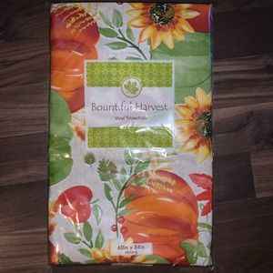 Other - New bountiful harvest vinyl tablecloth